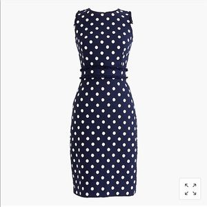 NWT J Crew Tweed Polka Dot Dress